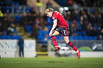 St Johnstone v Dundee&hellip;30.12.17&hellip;  McDiarmid Park&hellip;  SPFL<br />A-Jay Leitch-Smith scores Dundee&rsquo;s second goal<br />Picture by Graeme Hart. <br />Copyright Perthshire Picture Agency<br />Tel: 01738 623350  Mobile: 07990 594431