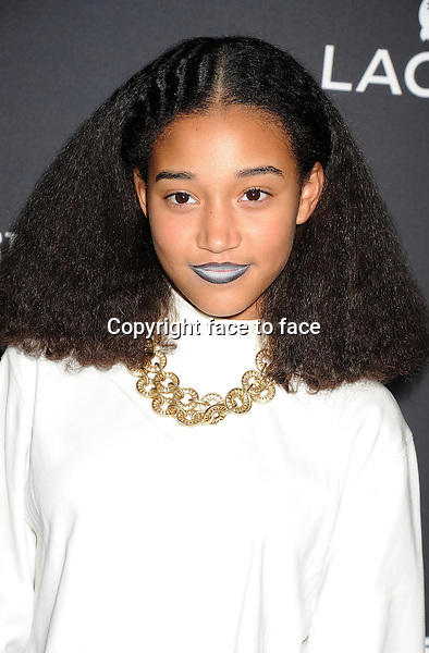 BEVERLY HILLS, CA- FEBRUARY 22: Actress Amandla Stenberg arrives at the 16th Costume Designers Guild Awards at The Beverly Hilton Hotel on February 22, 2014 in Beverly Hills, California.<br /> Credit: Mayer/face to face<br /> - No Rights for USA, Canada and France -