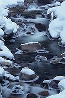 Icy creek at Snoqualmie Pass, Washington State