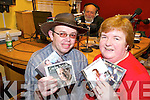 Dance: Getting set for the West Limerick Radio 102FM fundraising dance and dinner in the Rathkeale House Hotel on Thursday, December 4  .at the presenters PJ Cummins and Ann O'Halloran at the Abbeyfeale studio with Kenneth Twamley  in the background presenting the American Country Show.   Copyright Kerry's Eye 2008
