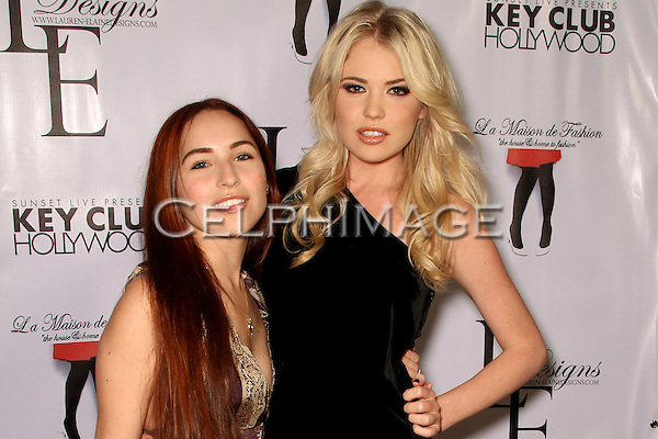 BROOKE VALLONE, KAYSLEE COLLINS. Arrivals to the LA Rocks Fashion Show, featuring the Lauren Elaine Fall 2010 Collection Debut at the Key Club. West Hollywood, CA, USA. March 22, 2010.