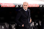 Real Madrid's coach Zinedine Zidane during Copa del Rey match between Real Madrid and Celta de Vigo at Santiago Bernabeu Stadium in Madrid, Spain. January 18, 2017. (ALTERPHOTOS/BorjaB.Hojas)
