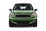 Car photography straight front view of a 2015 MINI Paceman Cooper 3 Door Hatchback Front View