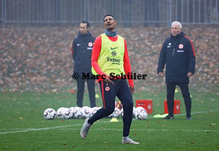 Sebastien Haller (Eintracht Frankfurt) - 14.11.2018: Eintracht Frankfurt Training, Commerzbank Arena, DISCLAIMER: DFL regulations prohibit any use of photographs as image sequences and/or quasi-video.