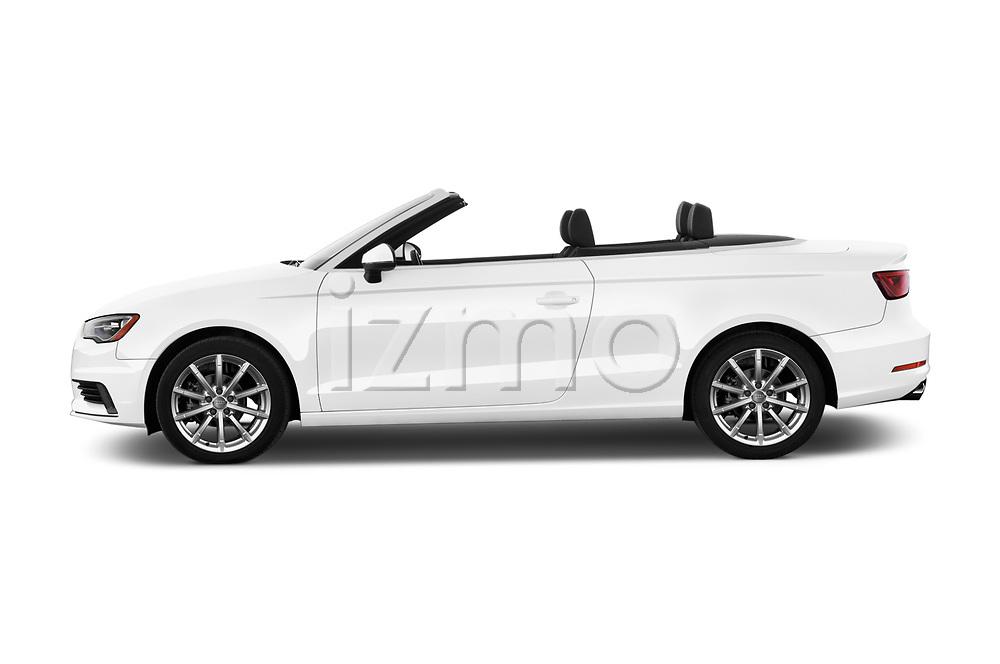 Car driver side profile view of a 2015 Audi A3 2.0T quattro S tronic Premium 2 Door Convertible