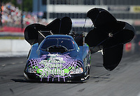 May 5, 2012; Commerce, GA, USA: NHRA funny car driver Bob Bode during qualifying for the Southern Nationals at Atlanta Dragway. Mandatory Credit: Mark J. Rebilas-