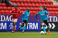 Wes Burns of Fleetwood Town during the Sky Bet League 1 match between Charlton Athletic and Fleetwood Town at The Valley, London, England on 17 March 2018. Photo by Carlton Myrie.