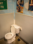 Buck's Track Shack. Spring, TX. Men's room toilet.