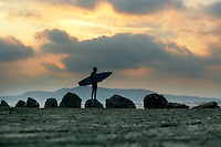 Surfer Bull Island, Dublin, Ireland.<br /> Picture James Horan