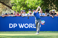 Paul Dunne (IRL) on the 16th during the final round of the DP World Tour Championship, Jumeirah Golf Estates, Dubai, United Arab Emirates. 19/11/2017<br /> Picture: Golffile | Fran Caffrey<br /> <br /> <br /> All photo usage must carry mandatory copyright credit (© Golffile | Fran Caffrey)