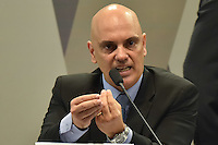BRASÍLIA, DF, 21.02.2017 – SABATINA-SENADO – O ministro da justiça licenciado e indicado ao STF, Alexandre de Moraes, durante sabatina na CCJ do Senado, na manhã desta terça-feira, 21. (Foto: Ricardo Botelho/Brazil Photo Press)