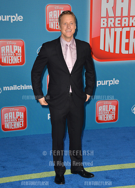LOS ANGELES, CA. November 05, 2018: Alan Tudyk at the world premiere of &quot;Ralph Breaks The Internet&quot; at the El Capitan Theatre.<br /> Picture: Paul Smith/Featureflash