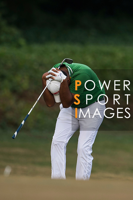 Anirban Lahiri of India reacts during the Venetian Macao Open 2016 at the Macau Golf and Country Club on 16 October 2016 in Macau, China. Photo by Marcio Machado / Power Sport Images
