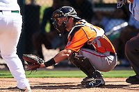 San Francisco Giants Will Albertson (10) during an Instructional League game against the Oakland Athletics on October 5, 2016 at Fitch Park in Mesa, Arizona.  (Mike Janes/Four Seam Images)