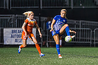 Allston, MA - Wednesday Aug. 31, 2016: Denise O'Sullivan, Kristie Mewis during a regular season National Women's Soccer League (NWSL) match between the Boston Breakers and the Houston Dash at Jordan Field.