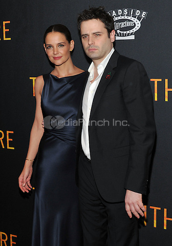 New York,NY-FEBRUARY 10: Katie Holmes and Luke Kirby attend the 'Touched With Fire' New York premiere at Walter Reade Theater on February 10, 2016 in New York City. Credit: John Palmer/MediaPunch