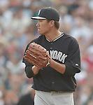 Masahiro Tanaka (Yankees),<br /> MARCH 18, 2015 - MLB :<br /> Pitcher Masahiro Tanaka of the New York Yankees during a spring training baseball game against the Atlanta Braves in Lake Buena Vista, Florida, United States. (Photo by AFLO)