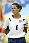 3 July 2004: Julie Foudy. The United States beat Canada 1-0 at the The Coliseum in Nashville, TN in an womens international friendly soccer game..