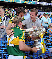 Donnadha Walsh celebrate after winning the All-Ireland Football Final against Donegal in Croke Park 2014.<br /> Photo: Don MacMonagle<br /> <br /> <br /> Photo: Don MacMonagle <br /> e: info@macmonagle.com