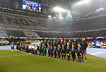 The two teams line up before the Champions League Final match at the Millennium Stadium, Cardiff. Picture date: June 3rd, 2017.Picture credit should read: David Klein/Sportimage