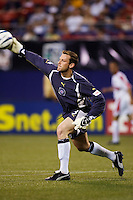 Chicago Fire's goalkeeper Henry Ring made seven saves. The Chicago Fire played the NY/NJ MetroStars to a one all tie at Giant's Stadium, East Rutherford, NJ, on May 15, 2004.