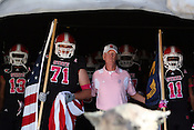 Head Coach Tom O'Brien prepares to come out of the tunnel prior to the game. NC State defeated Central Michigan 38-24 on Saturday, October 8, 2011 at Carter-Finley Stadium in Raleigh. Photo by Al Drago.