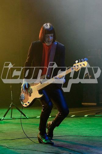 Band of Skulls - bassist Emma Richardson - performing live at the Empire in Shepherds Bush London UK - 27 Mar 2014.  Photo credit: George Chin/IconicPix
