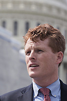 "Washington, DC - June 25, 2019: Congressman Joe Kennedy III attends a news conference to introduce the ""ACTION for National Service Act"" in front of the U.S. Capitol building, June 25, 2019.  (Photo by Lenin Nolly/Media Images International)"