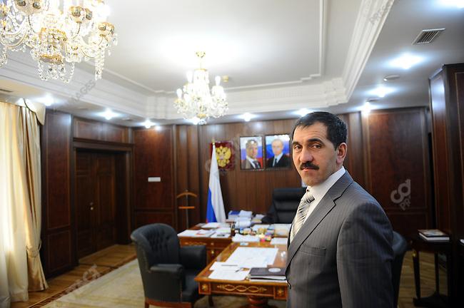 Yunus-Bek Yevkurov, the president of Ingushetia, in his office in the capital Magas.   April 7, 2010