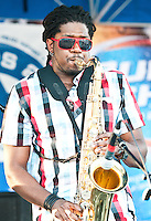Soul Rebels playing at the Magazine St. Blues Festival in 2010.