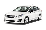 2015 Subaru Impreza 2.0I Auto 4 Door Hatchback Angular Front stock photos of front three quarter view