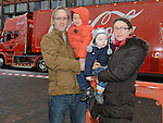 The McCabe family who visited the Coca Cola truck at Southgate shopping centre. Photo:Colin Bell/pressphotos.ie