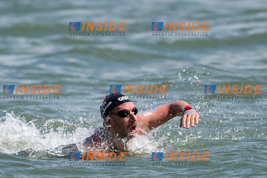 RUFFINI SImone ITA<br /> Hoorn, Netherlands <br /> LEN 2016 European Open Water Swimming Championships <br /> Open Water Swimming<br /> Men's 5km<br /> Day 02 12-07-2016<br /> Photo Giorgio Perottino/Deepbluemedia/Insidefoto