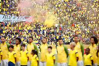 QUITO - ECUADOR - 01-09-2016: Ecuador y Brasil durante partido válido por la fecha 7 de la clasificación a la Copa Mundo FIFA 2018 Rusia jugado en el estadio Olímpico Atahualpa en Quito./  Ecuador and Brazil during match valid for the date 7 of 2018 FIFA World Cup Russia Qualifier played at Olimpico Atahualpa stadium in Quito. Photo: VizzorImage / Agencia Cronistas Gráficos