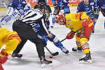 Bully zwischen Jerry DAmigo (Nr.9 - ERC Ingolstadt) und Alexander Barta (Nr.29 - Duesseldorfer EG) beim Spiel in der DEL, ERC Ingolstadt (dunkel) - Duesseldorfer EG (hell).<br /> <br /> Foto © PIX-Sportfotos *** Foto ist honorarpflichtig! *** Auf Anfrage in hoeherer Qualitaet/Aufloesung. Belegexemplar erbeten. Veroeffentlichung ausschliesslich fuer journalistisch-publizistische Zwecke. For editorial use only.