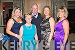 JOHN MITCHELS: Enjoying a wonderful time at the John Mitchels GAA annual dinner at the Ballygarry House hotel and Spa on Friday l-r: Lorraine McEvoy, Anne McEvoy, Mark McEvoy, Shirley McEvoy and Josephine Lynch.