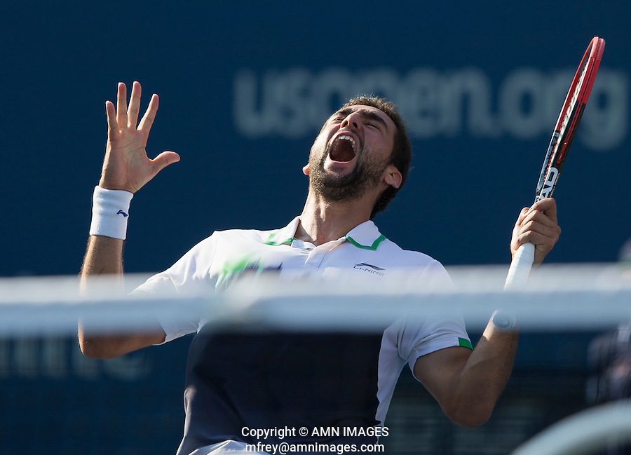 MARIN CILIC (CRO)<br /> The US Open Tennis Championships 2014 - USTA Billie Jean King National Tennis Centre -  Flushing - New York - USA -   ATP - ITF -WTA  2014  - Grand Slam - USA  <br /> <br /> 4th September 2014 <br /> <br /> &copy; AMN IMAGES