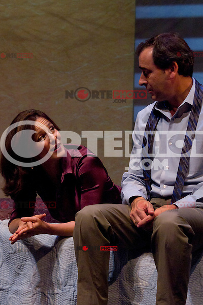 10.09.2012. Press Pass at the Theatre Marquina in Madrid of the show  'Babel' of Andrew Bovell. Performed by Aitana S&aacute;nchez-Gij&oacute;n, Pedro Casablanc, Jorge Bosch and Pilar Castro and directed by Tamzin Townsend. In the image Aitana S&aacute;nchez-Gij&oacute;n and Jorge Bosch (Alterphotos/Marta Gonzalez) /NortePhoto.com<br />