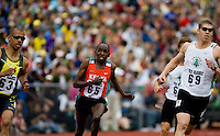 EUGENE, OR--From left, Alfred Yego Matt Scherer race in the men's 800m at the Steve Prefontaine Classic, Hayward Field, Eugene, OR. SUNDAY, JUNE 10, 2007. PHOTO © 2007 DON FERIA