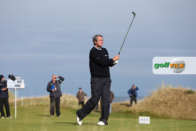 Scotland and Liverpool football legend Alan Hansen during R3 at Kingsbarns of the 2014 Alfred Dunhill Links Championship, The Old Course, St Andrews, Fife, Scotland. Picture:  David Lloyd / www.golffile.ie