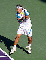 David FERRER (ESP) against Rafael NADAL (ESP) in the fourth round of the men's singles. Rafael Nadal beat David Ferrer 7-6 6-4..International Tennis - 2010 ATP World Tour - Sony Ericsson Open - Crandon Park Tennis Center - Key Biscayne - Miami - Florida - USA - Tue 30th Mar 2010..© Frey - Amn Images, Level 1, Barry House, 20-22 Worple Road, London, SW19 4DH, UK .Tel - +44 20 8947 0100.Fax -+44 20 8947 0117