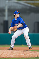 Jake Crawford (5) of Belton-Honea Path High School in Honea Path, South Carolina playing for the New York Mets scout team at the South Atlantic Border Battle at Doak Field on November 1, 2014.  (Brian Westerholt/Four Seam Images)