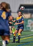 1 September 2019: Merrimack College Warrior Forward Vanessa Wainwright, a Freshman from Schenectady, NY, in action against the University of Vermont Catamounts in Game 3 of the TD Bank Women's Soccer Classic at Virtue Field in Burlington, Vermont. The Lady Warriors rallied in the second half to defeat the Catamounts 2-1. Mandatory Credit: Ed Wolfstein Photo *** RAW (NEF) Image File Available ***