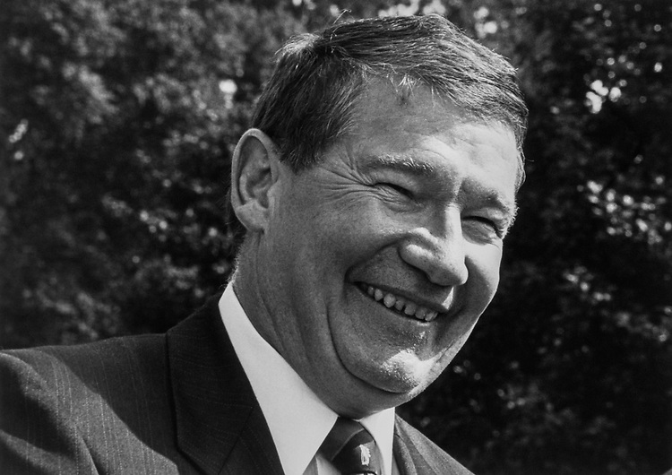 Close-up of Rep. Duke Cunningham, R-Calif., on Sep. 21, 1992. (Photo by Kathleen Beall/CQ Roll Call via Getty Images)