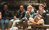 "Fashion students from Kingston College     watching rehearsals.  They'd designed clothes for athletes in the SOGB team.  Special Olympics Surrey put on a show,   ""Beyond the Stars"", at the Rose Theatre, Kingston upon Thames to raise money for the  SOGB team.  The Special Olympics are for athletes with learning disabilities."