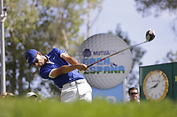 Jack Singh Brar (ENG) on the 10th tee during the second round of the Mutuactivos Open de Espana, Club de Campo Villa de Madrid, Madrid, Madrid, Spain. 04/10/2019.<br /> Picture Hugo Alcalde / Golffile.ie<br /> <br /> All photo usage must carry mandatory copyright credit (© Golffile | Hugo Alcalde)