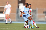 30 August 2013: North Carolina's Crystal Dunn (19). The University of North Carolina Tar Heels hosted the University of New Mexico Lobos at Fetzer Field in Chapel Hill, NC in a 2013 NCAA Division I Women's Soccer match. UNC won the game 2-1.