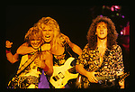 Rudy Sarzo, Adrian Vandenberg and Vivian Cambell of Whitesnake performs at Garden State Art Center in New Jersey US