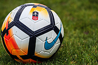 FA Cup Match Ball 2017/18 on display ahead of the 1st round proper weekend at Bradford City Training Ground on 2 November 2017. Photo by Thomas Gadd.
