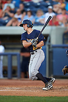Burlington Bees second baseman Jordan Zimmerman (22) at bat during a game against the West Michigan Whitecaps on July 25, 2016 at Fifth Third Ballpark in Grand Rapids, Michigan.  West Michigan defeated Burlington 4-3.  (Mike Janes/Four Seam Images)